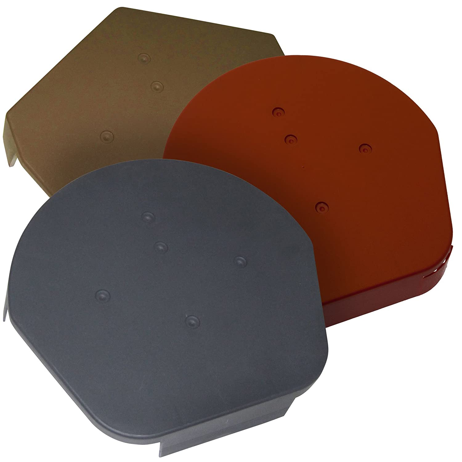 1 x Grey Universal Apex End Cap - Dry Verge Unit Gable Roof Mortar Free - Choice of colour and style Easy-Trim