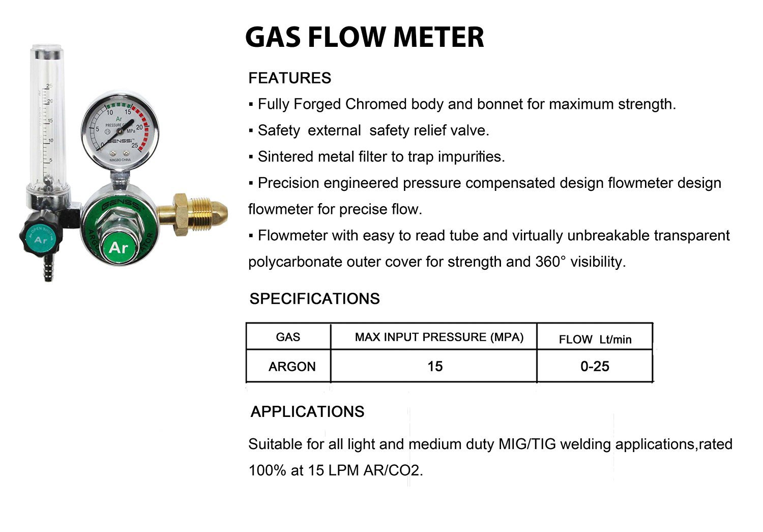 Argon Co2 Mig Tig Flowmeter Regulator Welding Gauge Gas Line Diagram Welder