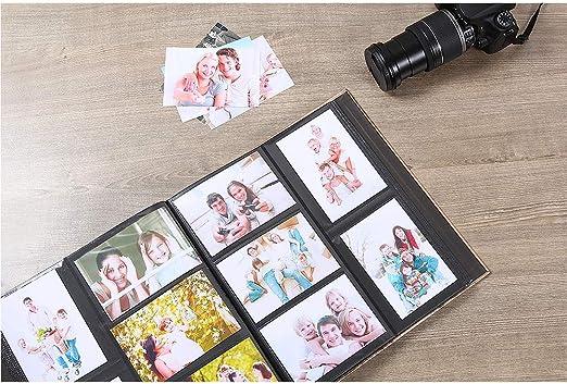 Formato Extra Large per 500 Foto da 10 x 15 cm Gold Benjia Album Fotografico con 500 Tasche per Foto da 15 x 10 cm