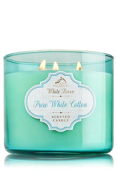 Amazon Com Bath Body Works Candle 3 Wick 14 5 Ounce White Barn