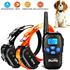 Dog Training Collar with Remote Rechargeable Waterproof 900ft Remote Dog Shock Collar with Beep Vibration Safety Shock Harmless Training Collars for Small Medium Large Dog