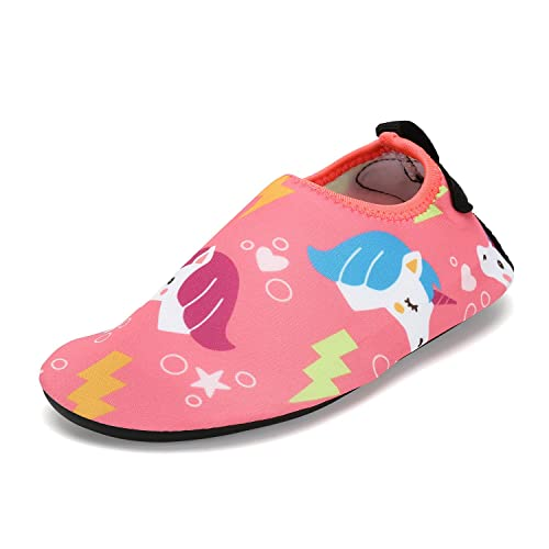 Saguaro® Niños Zapatillas para actividades acuáticas Slip On schwimmschuhe Verano Agua Guantes playa antideslizantes para jóvenes, color, talla 35/36 EU: ...
