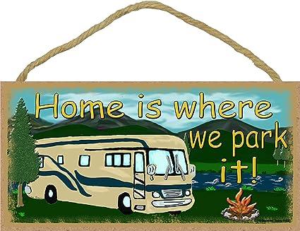 Dana34Malory - Placa de Cartel de Camping para Autocaravana ...