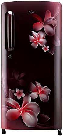 LG 190 L 3 Star Direct Cool Single Door Refrigerator(GL-B201ASPX.ASPZEBN, Scarlet Plumeria, Smart Inverter Compressor)