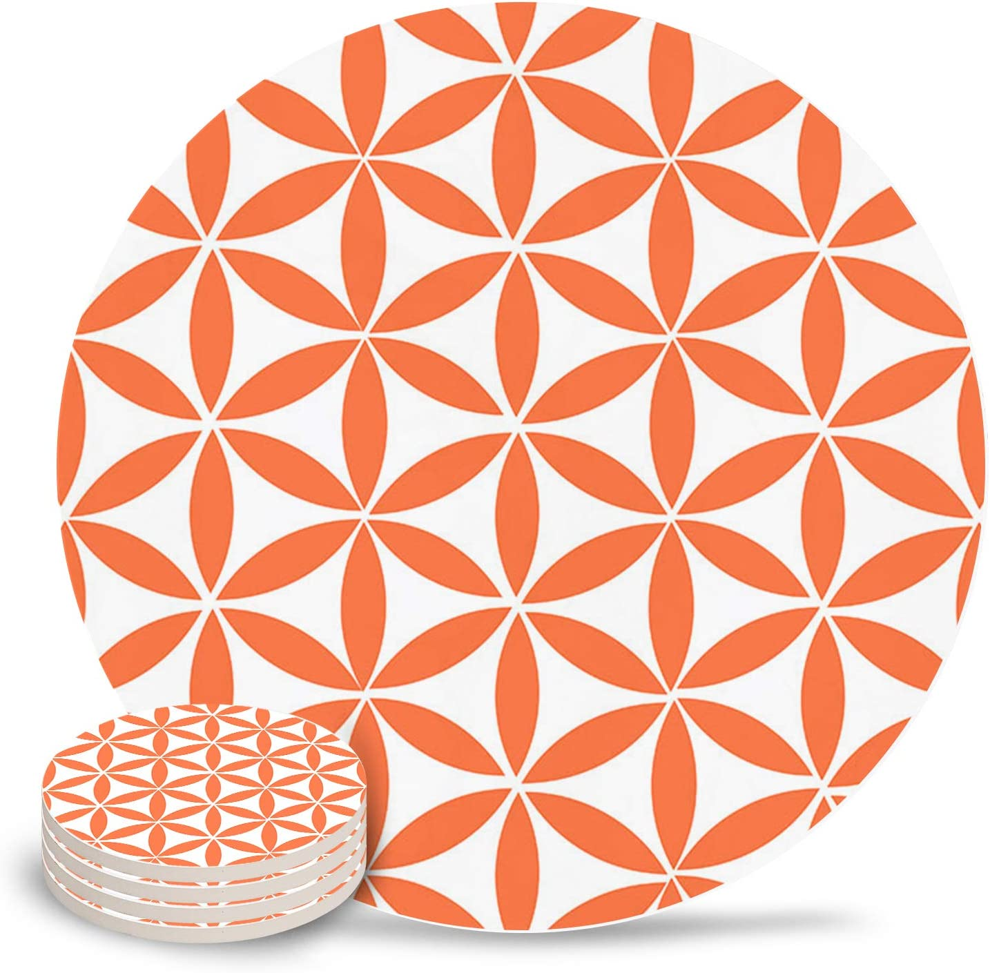 Absorbent Ceramic Coasters for Drinks 4