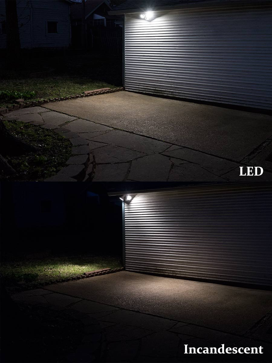 Eco-Star 13''W Bronze with Motion Sensor LED Security Light, 20W, 5000K DL by Four Bros Lighting