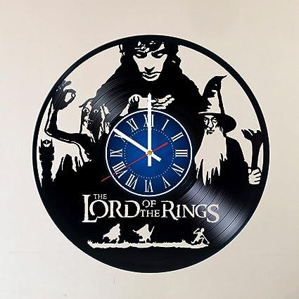 MY GIFT STORE Reloj de Pared con Inscripción en Inglés My Gandalf Frodo Baggins Aragorn,