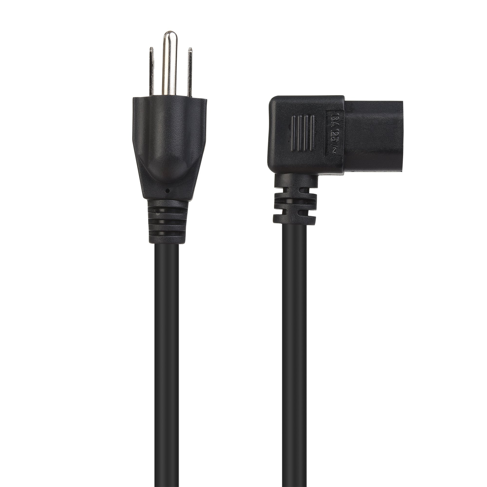 Cable Matters 2-Pack 16 AWG Right Angle Power Cord (Power Cable) 6 Feet (NEMA 5-15P to Angled IEC C13) by Cable Matters (Image #5)