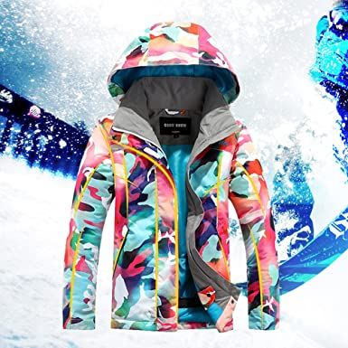 2cb464d3 Gsou Snow Ski Jacket Kids Winter Snow Coats Girls Super Warm Camouflage  Jackets Children -30