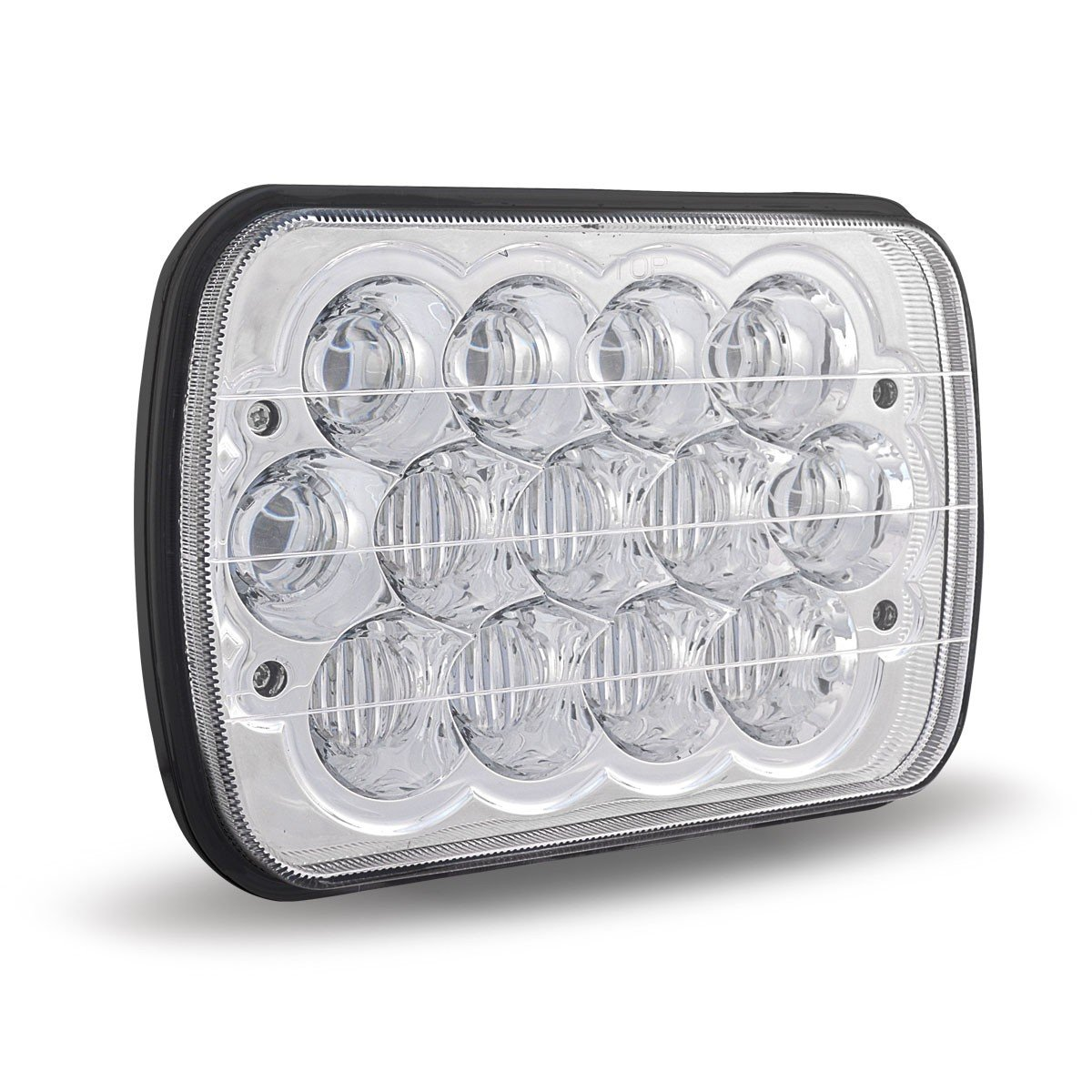 Trux Accessories 7in. x 5in. High/Low Beam LED Semi-Truck Headlight - Chrome, Model Number TLED-H52 by Trux Accessories