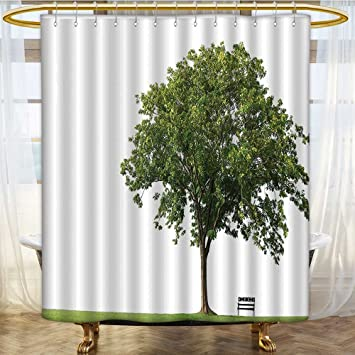 Amazon Com Shower Curtains 3d Digital Printing Bench Under