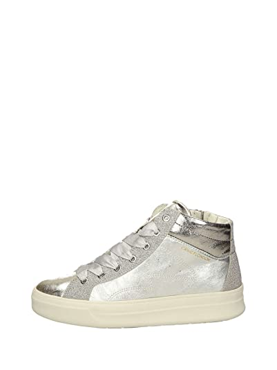 Crime London 25021KS1 Sneakers Hautes Femme Argent 37