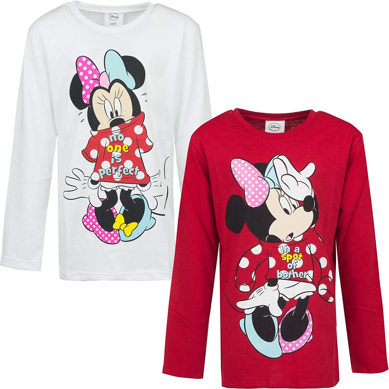 Minnie M/ädchen Langarmshirt Kinder Langarm Pullover
