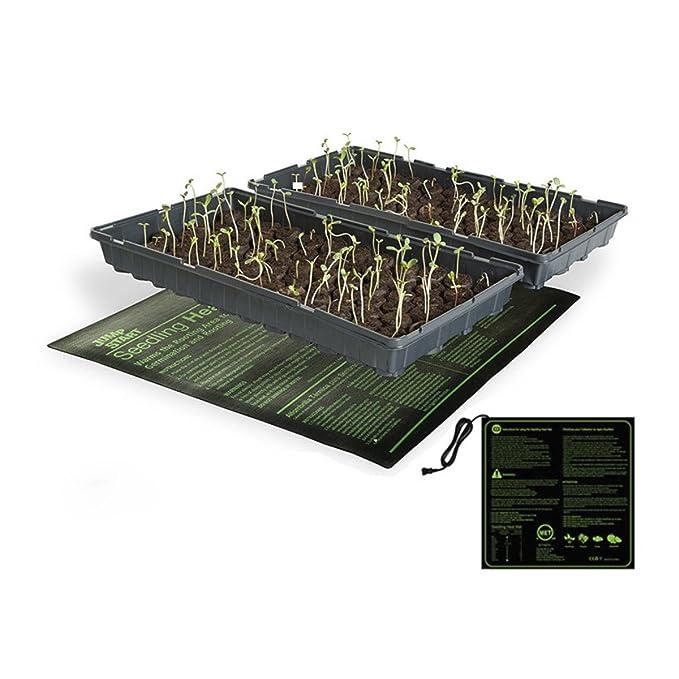 Qius home Alfombra Térmica para Plantas de Semillero, Terrario Calefactor, Incubadoras Alfombrilla Calefactora (45W(20x20)): Amazon.es: Jardín
