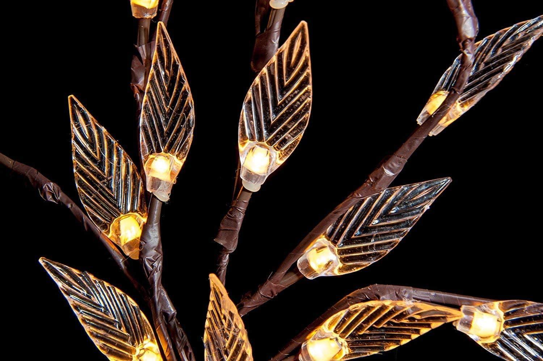 Solar Branch Tree Leaf Light Outdoor Garden Lawn Borders Patio 60 LED Lamp Light