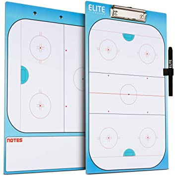 GoSports Lacrosse Dry Erase Double Sided Coaches Board with 2 Dry Erase Pens