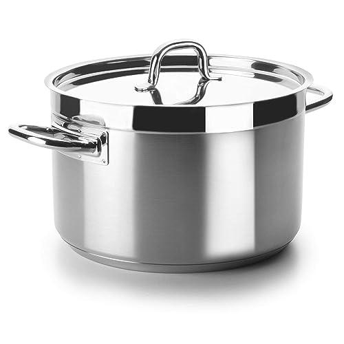 Lacor 54046 Cacerola Alta Con Tapa Chef Luxe 46 Cm Inox