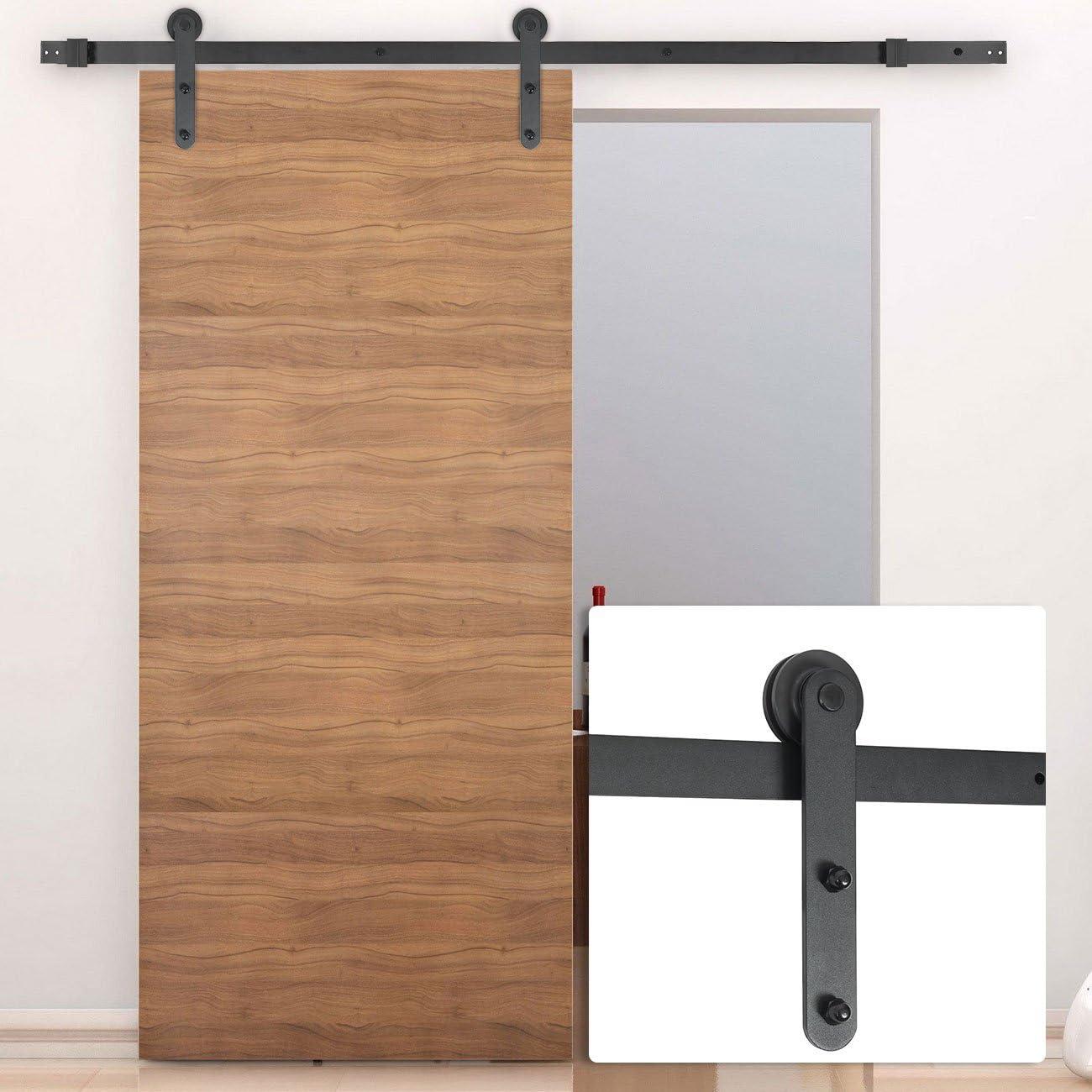 belleze 1.83 antiguo país americano moderno europeo granero madera acero puerta corredera, Hardware solo: Amazon.es: Bricolaje y herramientas