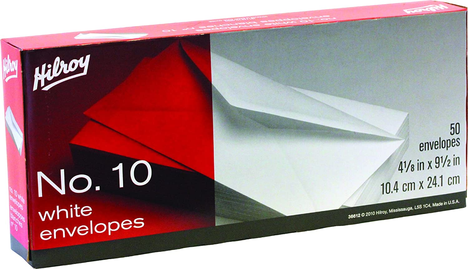 Hilroy 36511 No-8 Security Envelopes, 3-5/8x6-1/2-Inch, 50-Count