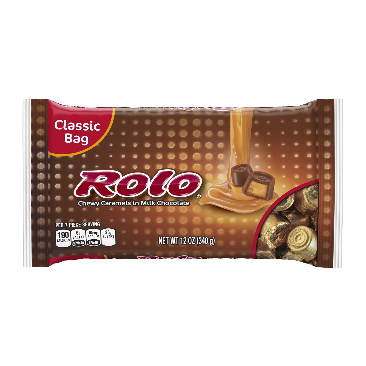 ROLO Chewy Caramels in Milk Chocolate (12-Ounce Bags, Pack of 4)