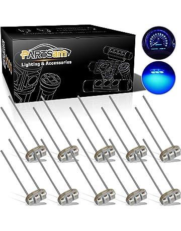 Partsam 10PCS Blue T4.7 Instrument Panel LED Light Gauge Cluster Bulbs Dashboard Indicator Lamp
