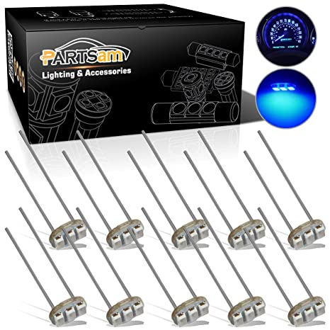 Amazon com: Partsam 10PCS Blue T4 7 Instrument Panel LED