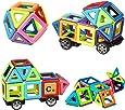 Innoo Tech Bloc de Construction Magnétique | Mini Jeux Construction Aimanté 76 Pièces Jouet et Cadeau Educatif et Instructif pour Enfants 3+ | Apprendre Les Formes et Les Couleurs en Jouant