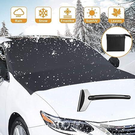 Voimakas Auto Windschutzscheibe Schneeschaber Auto Windschutzscheibe Frostschutz Magnetische Kanten Auto Schnee Abdeckung Frostschutz Windschutzscheibe Staubschutz Frost Schnee Eis Abdeckung Bei Jedem Wetter Auto