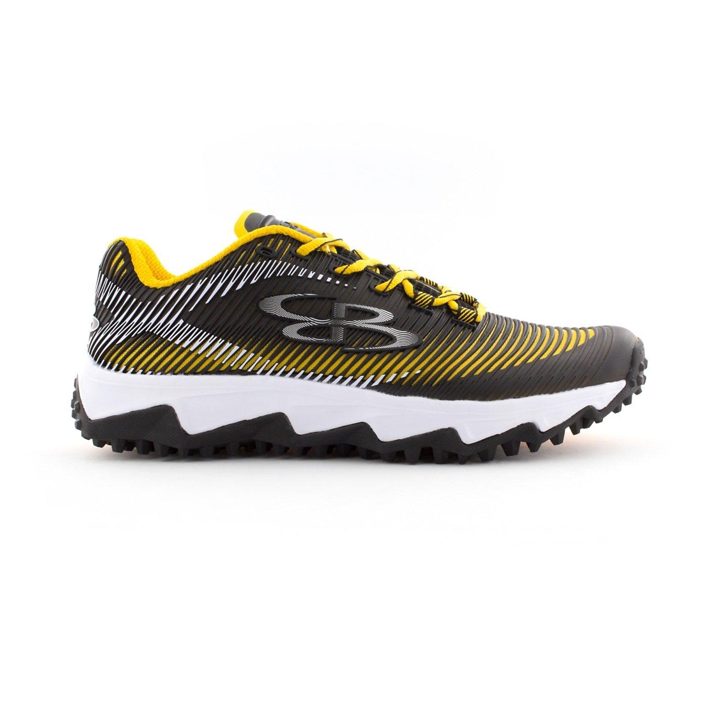 Boombah Men's Aftershock DPS Turf Shoes - 18 Color Options - Multiple Sizes B0767QZDGC 14|Black/Gold