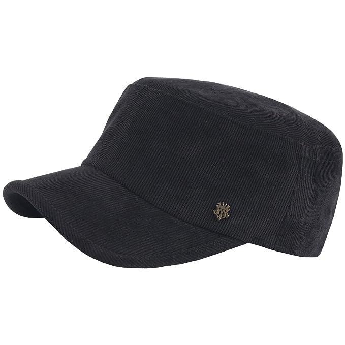 RaOn A184 Army Cap Winter Basic Style Plain Corduroy Golf Club Cadet  Military Hat