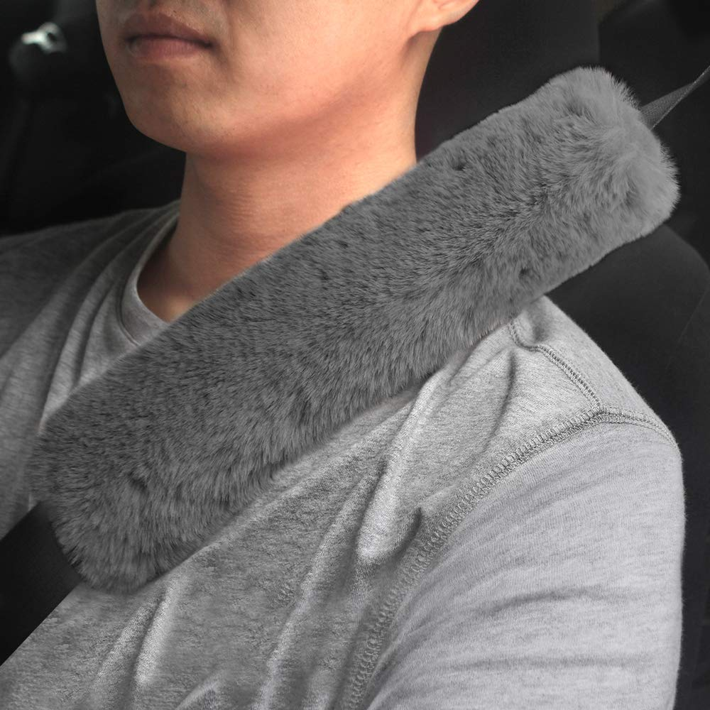 GAMPRO Car Seat Belt Pad Cover 13 inches, 2-Pack Soft Car Safety Seat Belt Strap Shoulder Pad for Adults and Children, Suitable for Car Seat Belt, Backpack, Shoulder Bag (3C) by GAMPRO