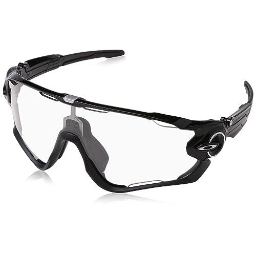 Oakley Sonnenbrille Jawbreaker, Gafas de Sol para Hombre, Negro Pulido, 1