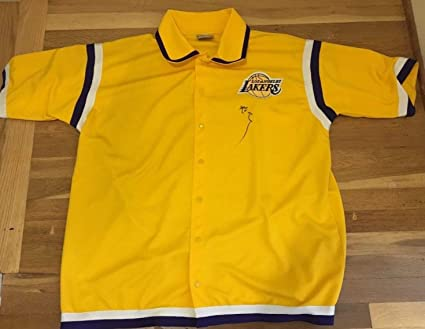 1037ad6e176 Image Unavailable. Image not available for. Color  Kobe Bryant Autographed  Signed Los Angeles Lakers Warm Up Jersey ...