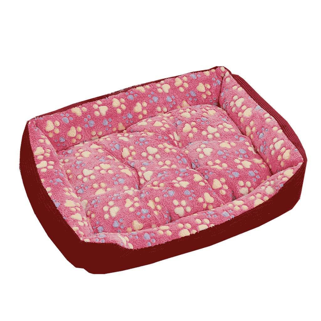 Large Kennel Winter Law Fighting Keji Warm Pet Mat Medium Small Small Dog golden Retriever Dog Bed Four Seasons WHLONG (Size   L)