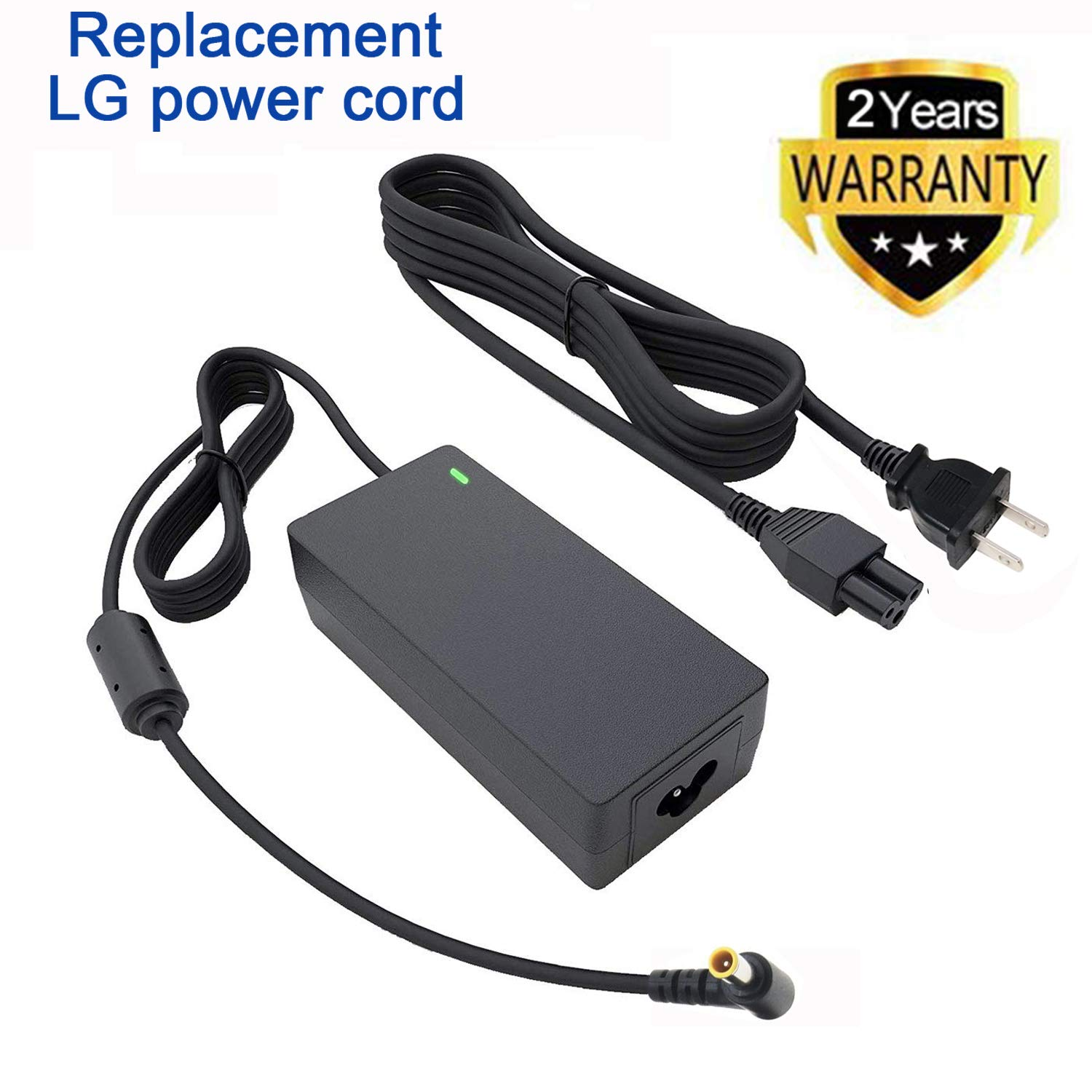 TYZEST 19V Ac Adapter for LG Electronics 19'' 20'' 22'' 23'' 24'' 27'' LED LCD Monitor LED LCD HDTV Widescreen Flatron IPS236V IPS236-PN E2750VR-SN Replacement Power Supply Charger Cord