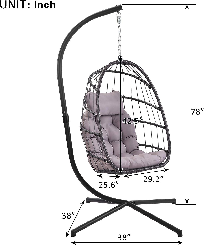 Outdoor Indoor Papasan Cushion Hanging Swing Egg Chair Garden Rattan chair Mat