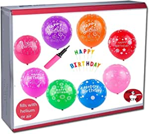 10PCS Latex Balloon Celebration Happy Birthday Print Wedding Party Gift 12 inch