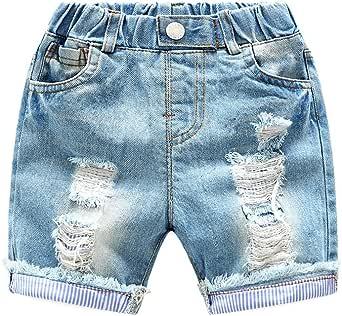 Amazon.com: LAPLBEKE Baby Boys Jeans Shorts Toddlers