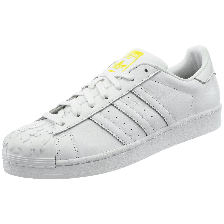 adidas Superstar Pharrell Supershell S83349 Herren Low Top Sneakers Weiß 42