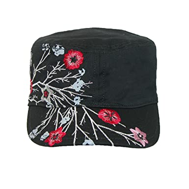 Scala Pronto Women s Cadet With Flower Embroidery Cap 08c8e3220dae
