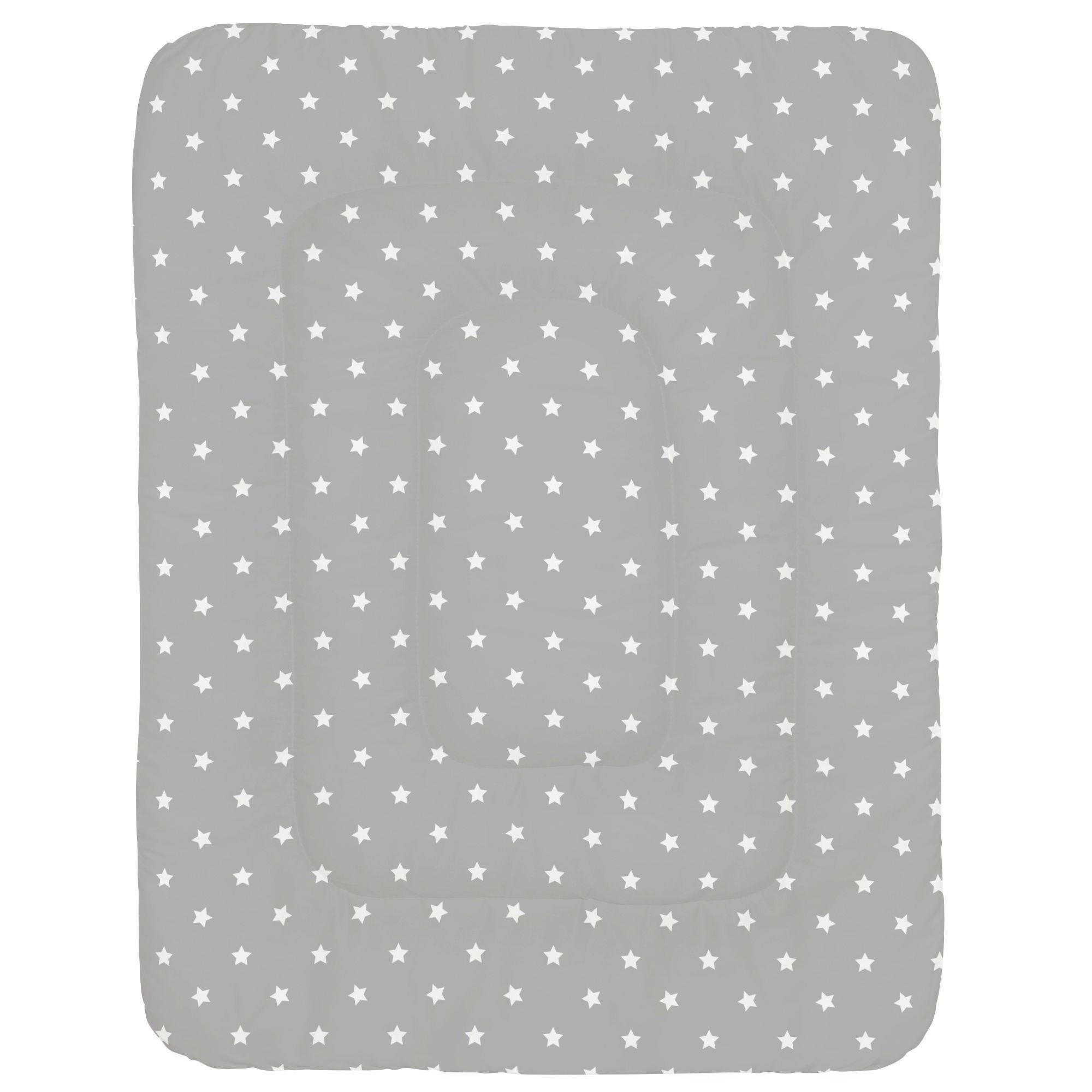 Carousel Designs Gray and White Stars Crib Comforter