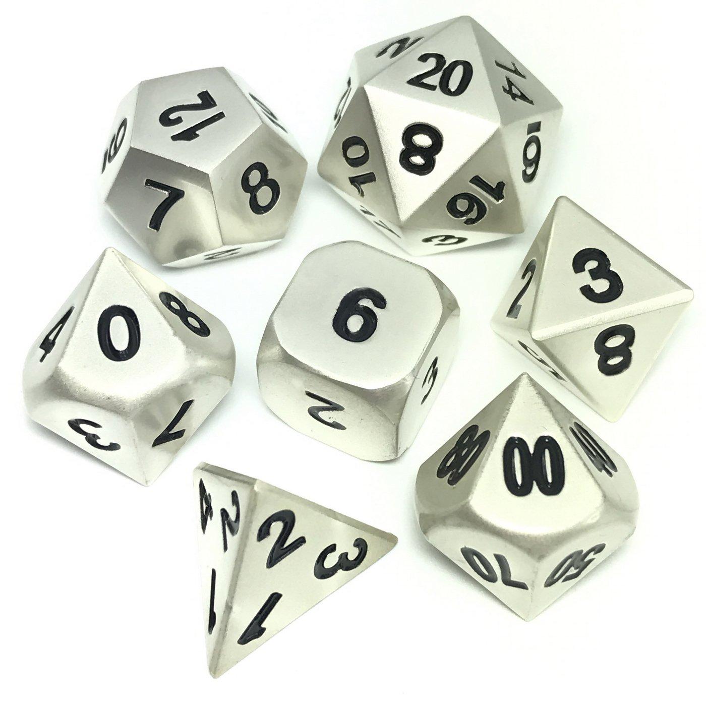 【即納&大特価】 Polyhedral 7-dieのセットメタルダイスShiny RPG Heavy Dice for RPG DND DND with Ironボックスforギフト with B06XNTHF47, エチグン:86e4a5eb --- arianechie.dominiotemporario.com