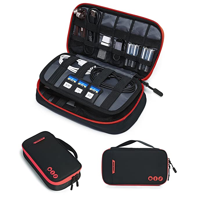 BAGSMART Travel Electronic Accessories Thicken Cable Organizer Bag Portable Case 2599 Amazon