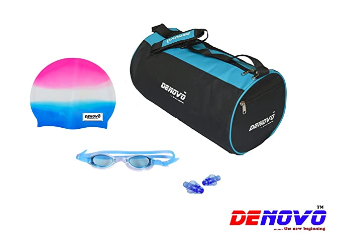 DeNovo Supreme Swimming Kit  Kit Bag, Swimming Cap, Swimming Goggle and Ear Plugs