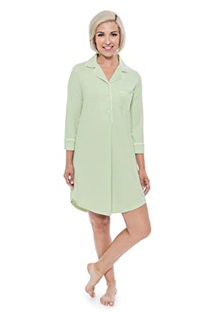 fc985c225d Women s Nightshirt in Bamboo Viscose (Zenrest) Stylish Sleep Shirt ...