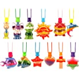 12 Pieces Sand Art Bottle Necklaces Animals Sand Art Necklace for Novelty Art Activity Group Variety Summer Beach Games…
