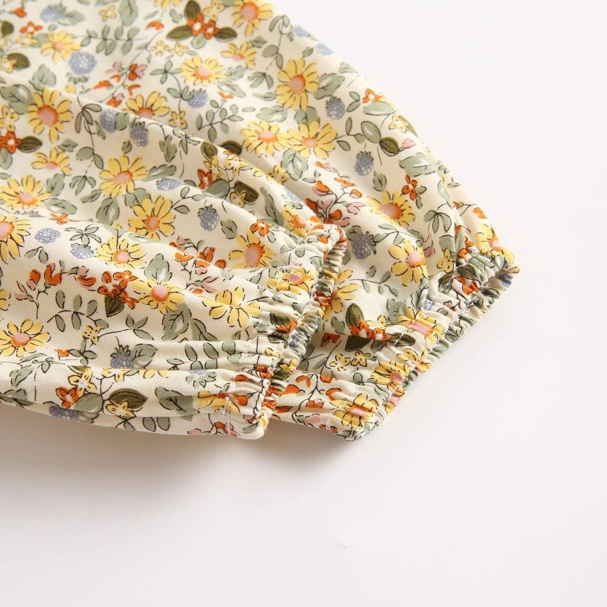 Sanlutoz Neugeborene Babykleidung Blume Baby M/ädchen Strampelh/öschen Baumwolle Lange /Ärmel S/äugling Kleidung