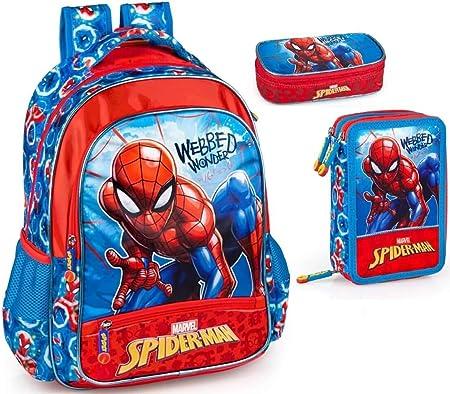 Bambini Ragazzi Marvel Avengers Spiderman Fumetto Zaino Scuola Borsa Zaino Personaggio