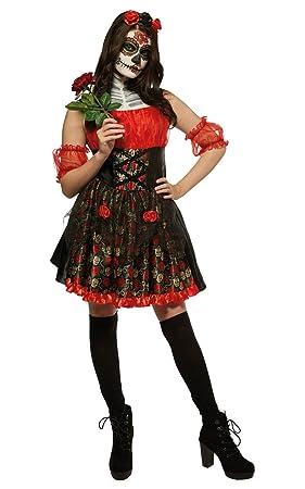 Rosas rojas día de los muertos Halloween Fancy disfraz de ...