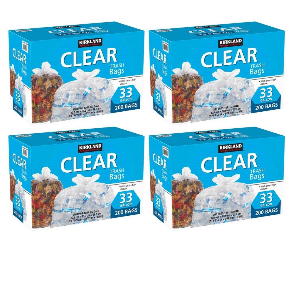 Amazon.com: Kirkland Signature Clear Trash Bags with Smart Closure ...